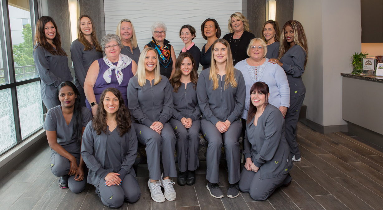 Staff photo of Trailside Dentistry team